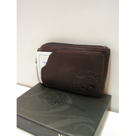"Porte monnaie en cuir marron""David William"""