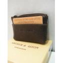 """Porte monnaie en cuir marron""""Arthur&Aston"""""""