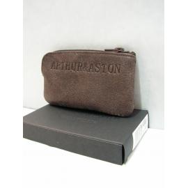"""Porte monnaie en cuir noir""""Arthur&Aston"""""""