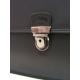 """Porte Document double en cuir noir """"francinel"""""""
