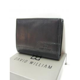"Porte monnaie en cuir noir""David William"""