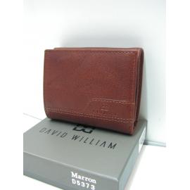 """Porte monnaie en cuir marron""""David William"""""""