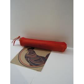 """Petite trousse en cuir rouge""""Jean Louis Foures"""""""