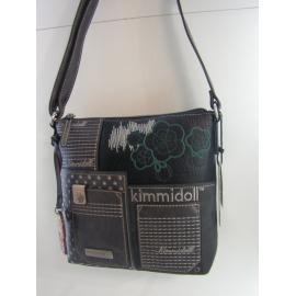 "Sac porté travers en synthétique gris fantaisie ""Kimmidoll"""