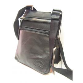 """Petit sac plat porté travers noir """"Francinel"""""""